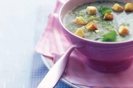 Aardappel-bascilicumsoep: