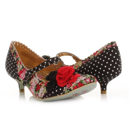 Details about WOMENS IRREGULAR CHOICE DAISY DAYZ BLACK FLORAL ...