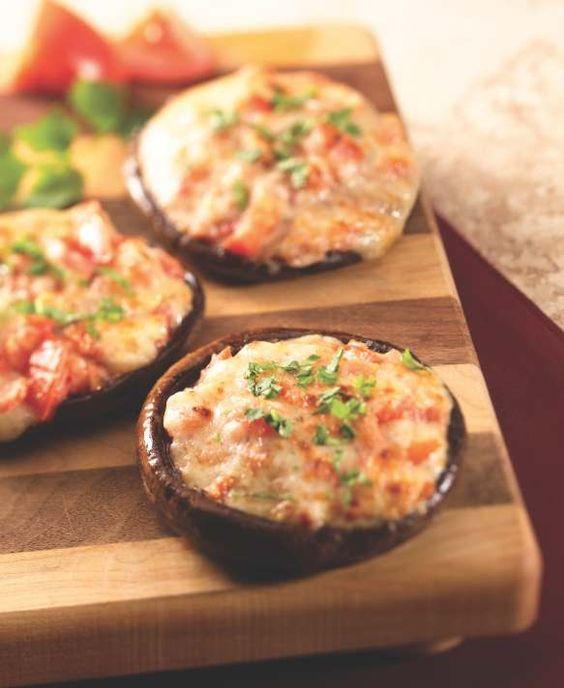 Enjoy our Meatless Monday appetizer of Stuffed Portobello Mushrooms!