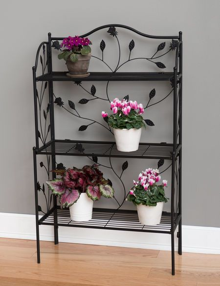 Baker S Rack Plant Stand Plant Stand Enclosed Porch Decorating