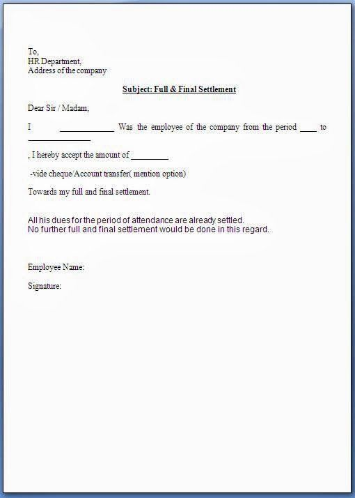 Payment Settlement Letter Format Lovely Full And Final Settlement Acceptance Letter In 2020 Resignation Letter Format Resignation Letter Letter Templates