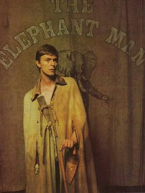 """David Bowie....publicity still for """"The Elephant Man"""", 1980"""