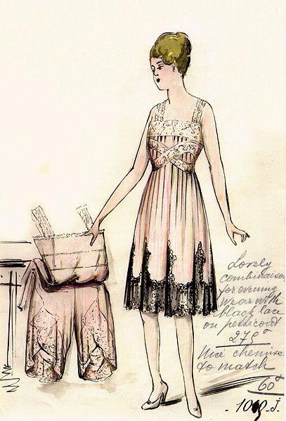 Slip by House of Worth 1916.  Designer: Jean-Philippe Worth
