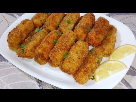 شهيوات رمضان 2019 كروكات البطاطا بشكل جميل وذوق رااائع جدااجدا Youtube Food Middle Eastern Recipes Croquettes