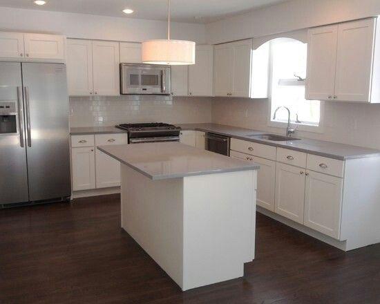 L Shaped Kitchen Layout Kitchen Layout Pinterest Kitchens - Black and white l shaped kitchens