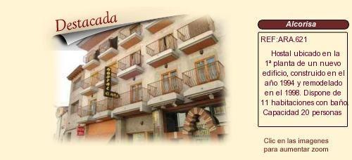 ARA621 Alcorisa. Teruel comarca del bajo Aragón  Hostal en venta http://www.lancoisdoval.es/empresas-en-venta.html