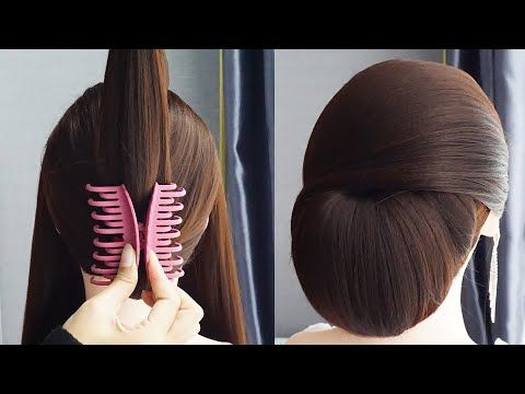 Very Easy Hairstyle With Only 1 Clutcher Bun Hairstyle For Saree Juda Hairstyle Easy Hairstyle Yout In 2020 Very Easy Hairstyles Bun Hairstyles Easy Hairstyles