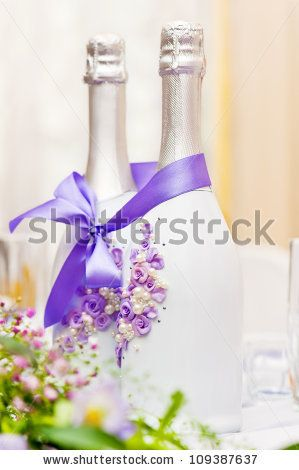 wedding champagne bottle decorations - Поиск в Google