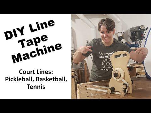 Line Tape Machine Diy Perfect For Basketball Pickleball Tennis Court Lines Youtube Pickleball Basketball Pickleball Court