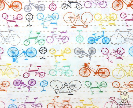 Que tal uma fronha com estampa de bicicleta para decorar o quarto? ;)
