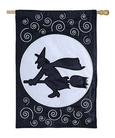 Take a look at this Witch & Moon Flag by Evergreen on #zulily today!