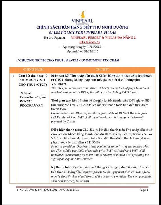 Chinh Sach Ban Hang Chnh Sch Bn Hng Bit Th Vinpearl Nha