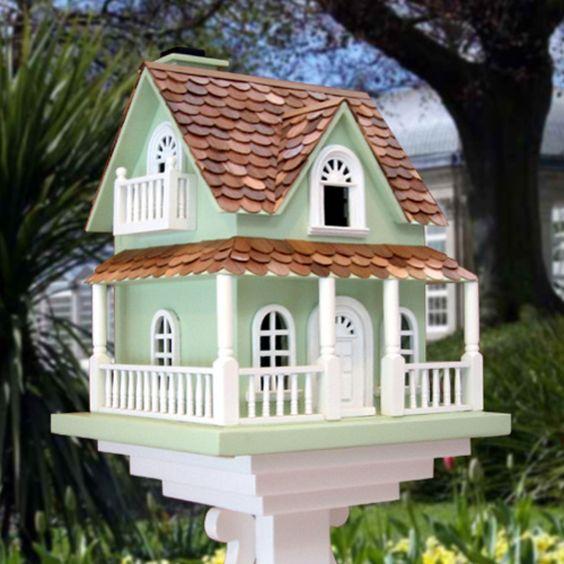 Best Hobbit House Bird House Green With Red Cedar Shingle 400 x 300