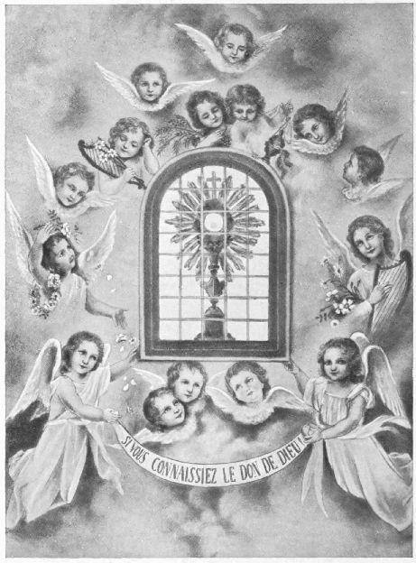 SI VOUS CONNAISSIEZ LE DON DE DIEU!  Fresque composée et peinte par Sr Thérèse de l'Enfant-Jésus  autour du Tabernacle de l'Oratoire intérieur du Carmel.