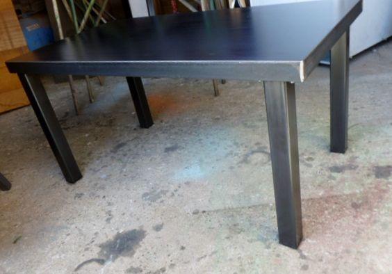 table basse tout métal style industriel