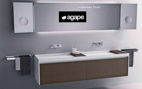 ... moderni con doppio lavabo : Mobile con doppio lavabo - Mobili da bagno