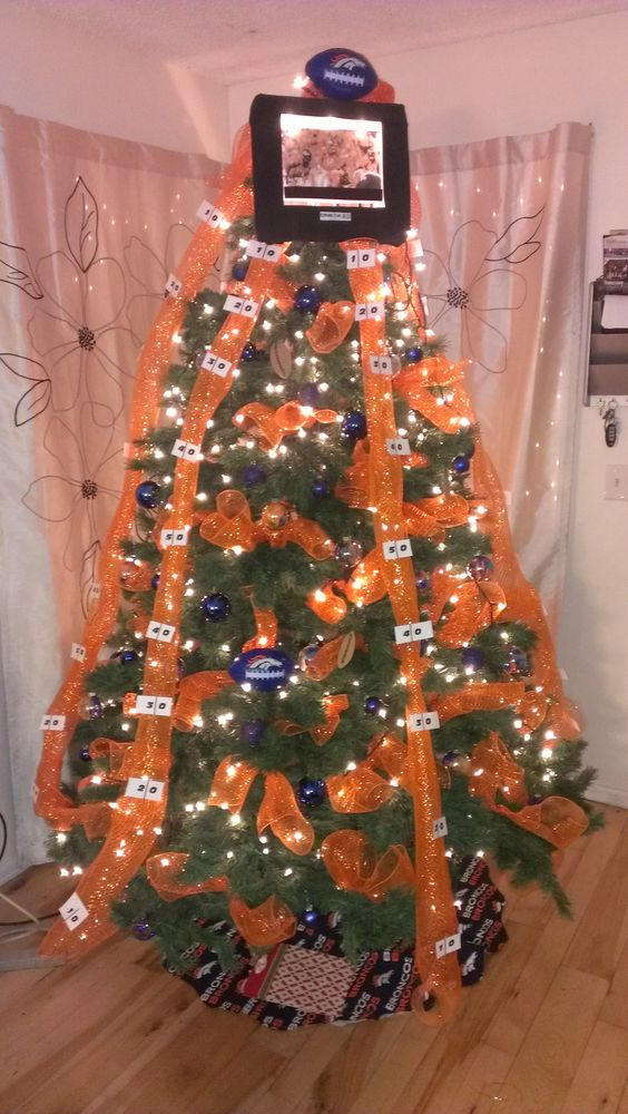 Handmade Denver Bronco Christmas Tree | Holiday ...