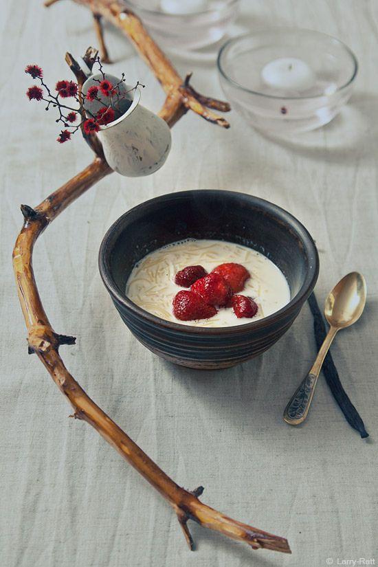 Молочно-клубничный завтрак