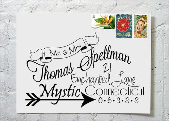Envelope Printing Calligraphy And New Fonts On Pinterest