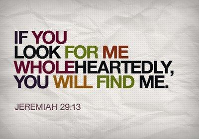 """...you will find me."""