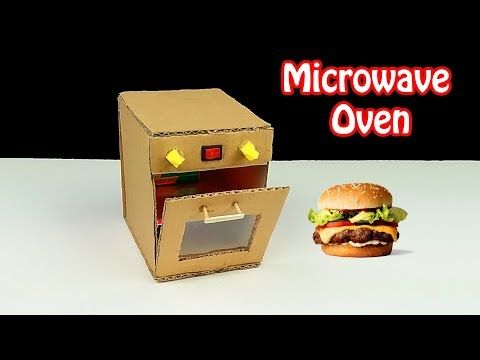 How To Make Oven From Cardboard Diy Toy Microwave Oven With