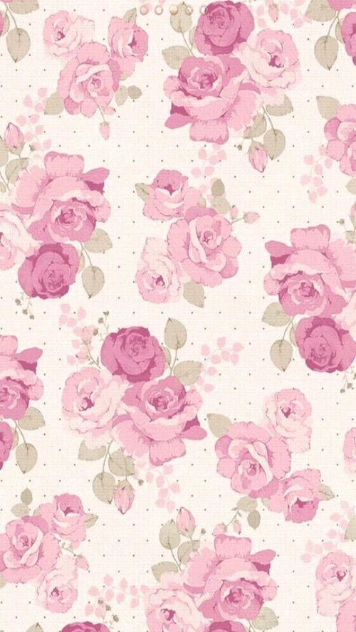 Rose wallpaper pink roses and we heart it on pinterest - Pink roses and hearts wallpaper ...