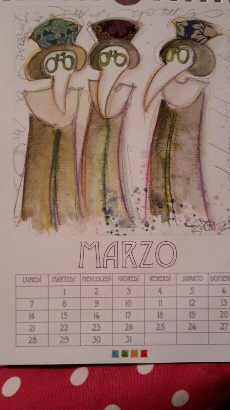 Kalenderblatt März 2016  In Venedig gekauft. ....