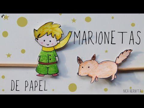 Youtube marionetas de papel de el principito - Youtube manualidades de papel ...