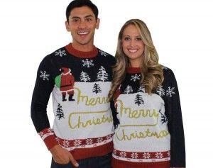 Santa peeing Merry Christmas sweater