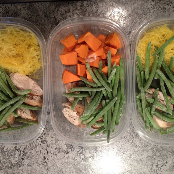 #mealprepsunday I decided to switch up my carbs for lunch. Replaced rice with spaghetti squash and sweet potato. #mealprep #carbs #healthy #livinghealthy  by npaulsfitness