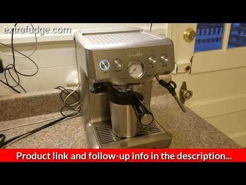 How To Do A Cleaning Cycle On The Breville Espresso Machine Youtube Breville Espresso Machine Breville Espresso Espresso Machine