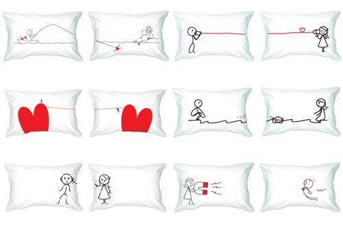 almohadas románticas