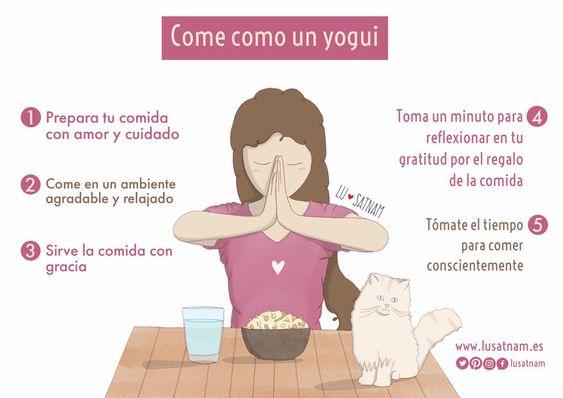 Come como un yogui