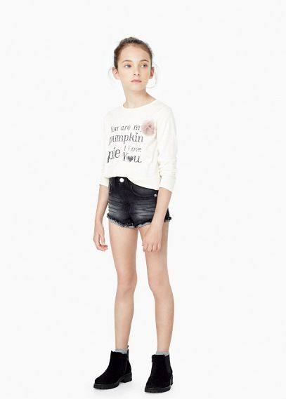 Camiseta mensaje estampado | MANGO KIDS