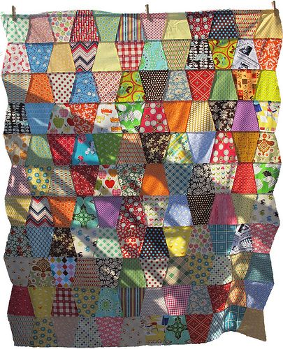 Tumbler quilt top by Sew Take A Hike