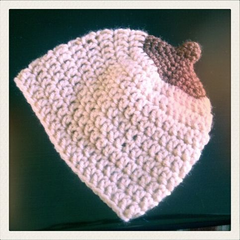 Boobie Beanie -- Great for breast cancer awareness, breastfeeding rights, any breast health issue... also they're adorable!!