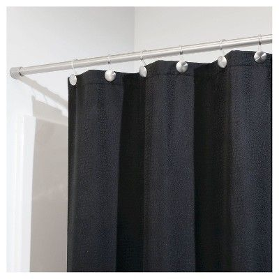 Interdesign Brushed Forma Shower Curtain Tension Rod Brushed Stainless Steel Large Silver Stainless Steel Rod Curtains Steel Rod