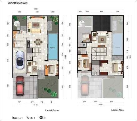 desain rumah 2 lantai ada kolam renang