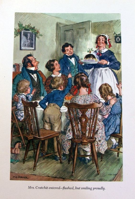 Does charles dickens portray cratchit family christmas carol