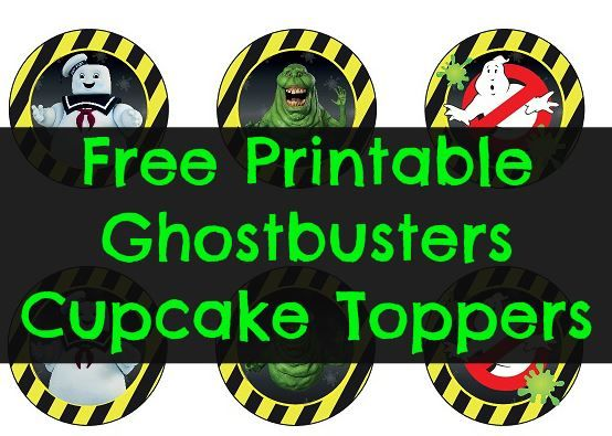 picture about Ghostbusters Printable named Cost-free Printable Ghostbusters Cupcake Toppers Healthier