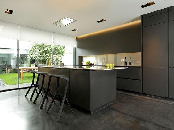 Snowdowne - Alno Star Fine - Graphite Matt Kitchen - Stainless - alno küchen katalog