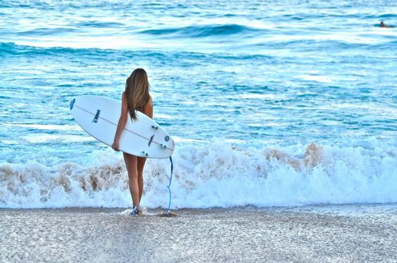 to surf.