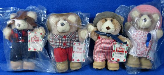 """Furskins Bears Plush 1986 Wendy's Collection 7"""" Stuffed Animal Hats And Boots #APPALACHIANARTWORKS"""