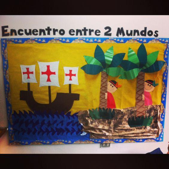 12 de octubre colegio pinterest for Diario mural escolar