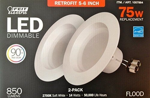 Feit Electric Led 2 Pack Retrofit Kit Replaces 56 Inch Soft White 2700k 850 Lumens Check Out This Great Dining Room Lighting Recessed Ceiling Lights 2700k