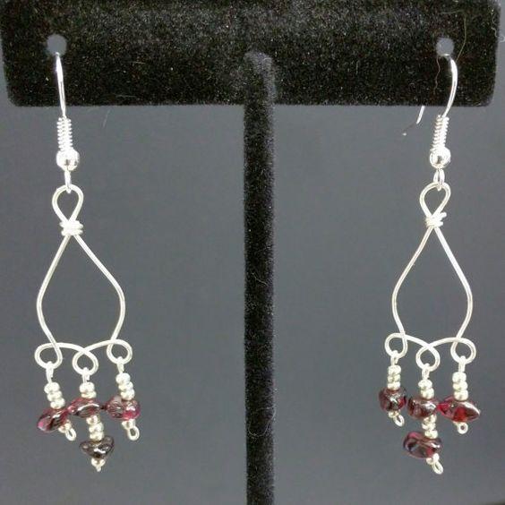 Garnet Earrings by Jewelrybyila on Etsy