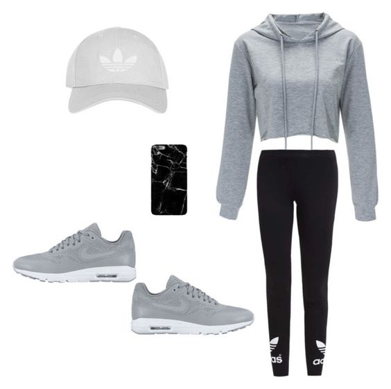 """""""Work Out / Excercise"""" by michaeljoshie on Polyvore featuring NIKE, adidas Originals and Topshop"""