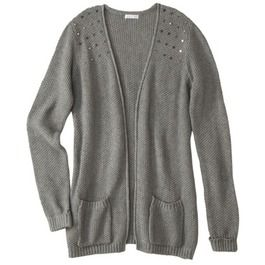 Xhilaration® Juniors Cardigan with Studs - Assorted Colors