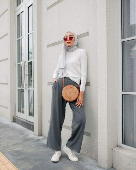 40 Trendy Fashion Vintage Casual Pants Summer Outfits Casual Simple Hijab Casual Hijab Style Casual