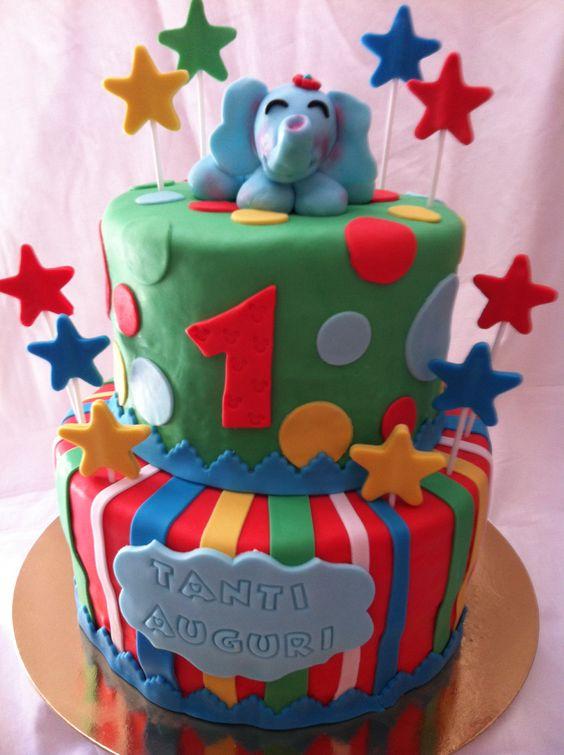 #torta #compleanno #1anno #tantiauguri #colori #elefante #happybirthday #cake #cakedesign #chiryscakes